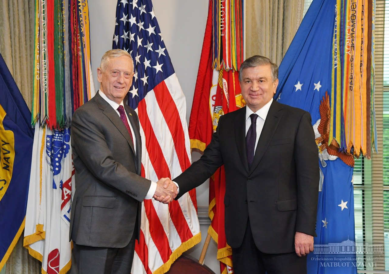 Shavkat Mirziyoyev holds talks at Pentagon