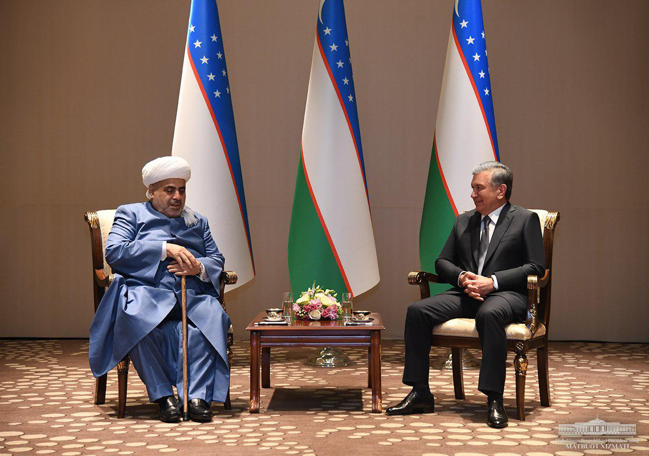 The President receives chairman of Caucasus Muslim Board