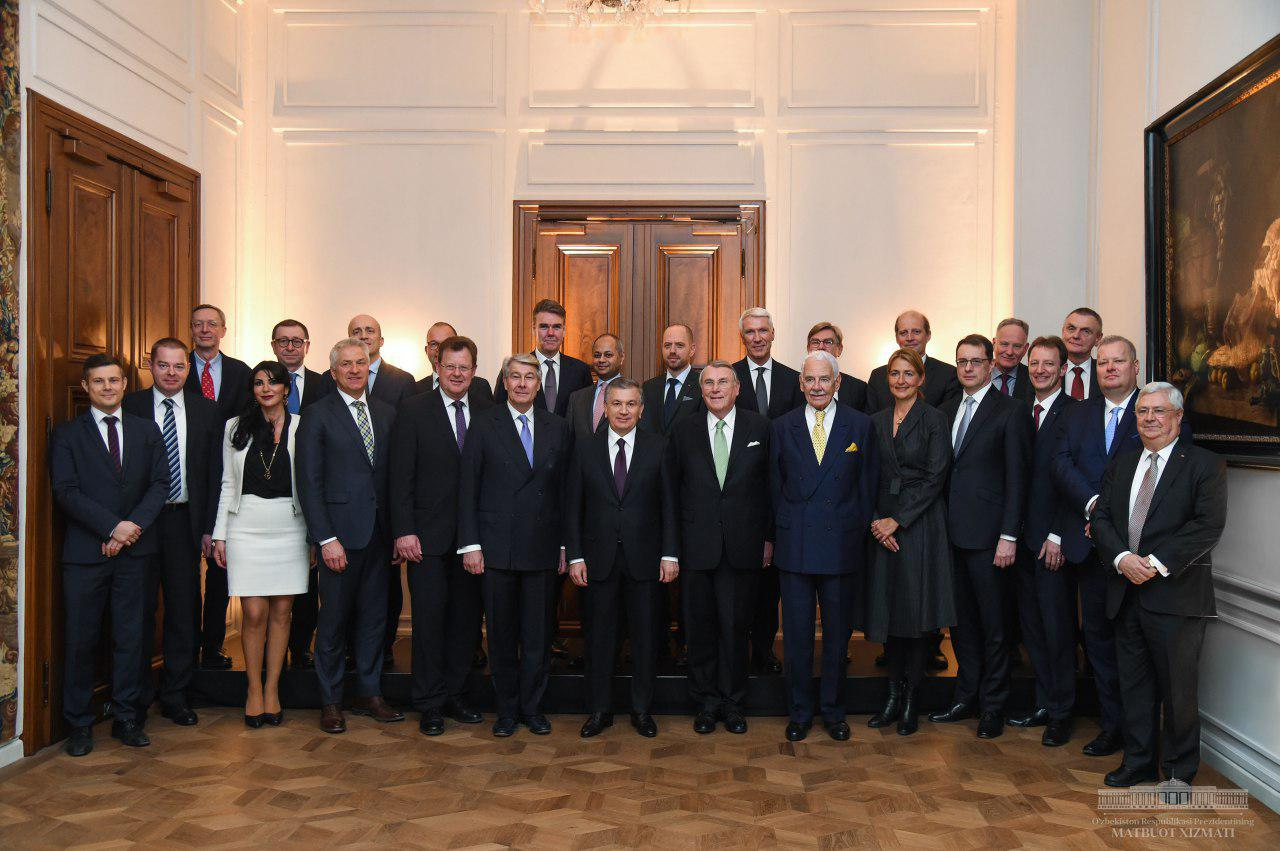 Shavkat Mirziyoyev met with business representatives of Germany