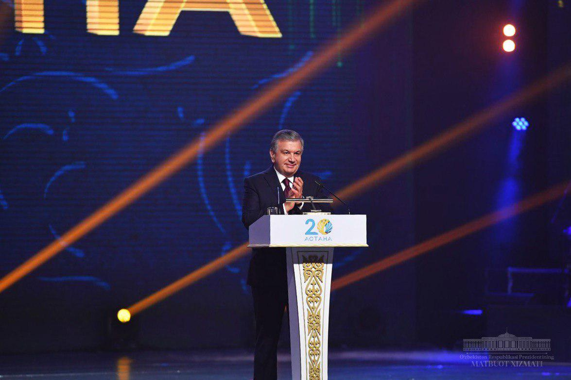Shavkat Mirziyoyev congratulates people of Kazakhstan on Astana's 20th anniversary